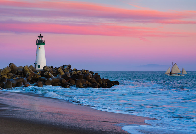 Walton Lighthouse during another gorgeous Santa Cruz sunset